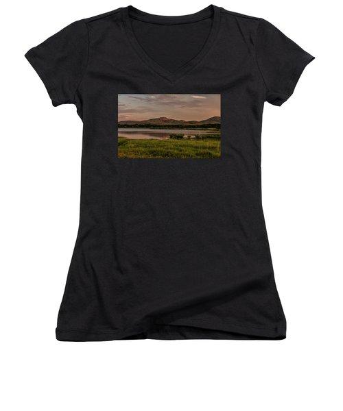 Wichita Mountains Women's V-Neck T-Shirt