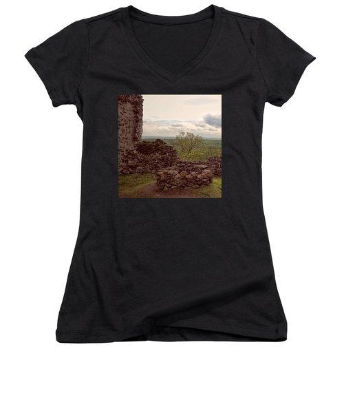 Wieder Einmal Auf Meiner Lieblings- Women's V-Neck T-Shirt (Junior Cut) by Mandy Tabatt