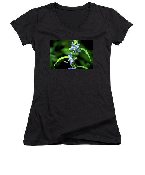 Wild Blue Flowers Women's V-Neck