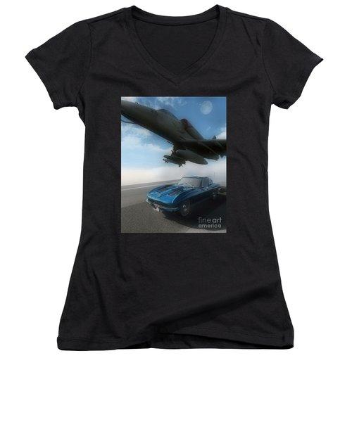 Wild Blue Women's V-Neck T-Shirt