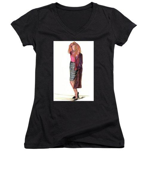 Wild Woman Women's V-Neck T-Shirt