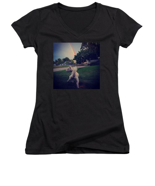 Gold At The End Of The Rainbow Women's V-Neck