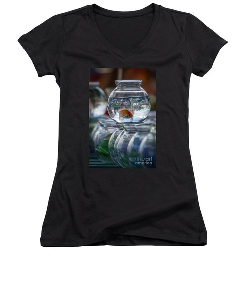 Win A Goldfish Women's V-Neck T-Shirt