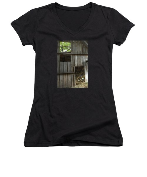 Window To The Present Women's V-Neck T-Shirt