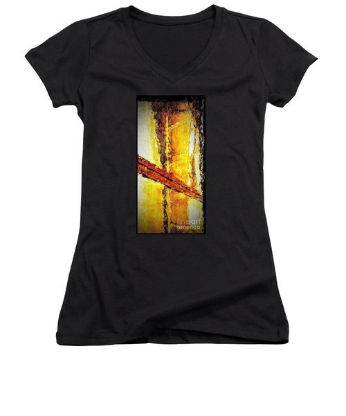 Window Women's V-Neck T-Shirt (Junior Cut) by William Wyckoff