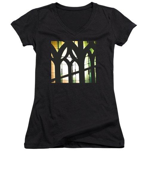 Windows Women's V-Neck T-Shirt (Junior Cut) by Melissa Godbout