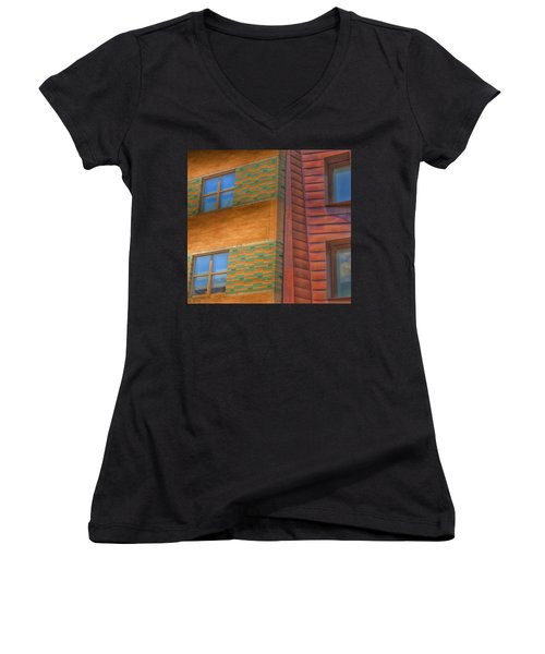 Windowscapes Women's V-Neck T-Shirt