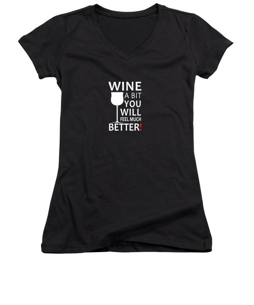 Wine A Bit Women's V-Neck (Athletic Fit)