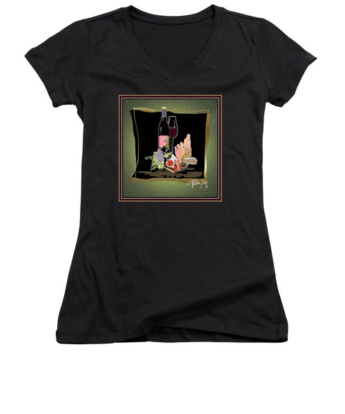 Wine And Cheese Women's V-Neck