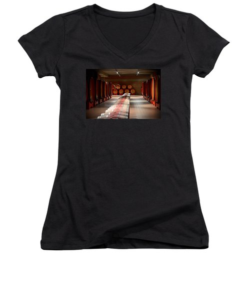 Wine Cellar In Montalcino Women's V-Neck