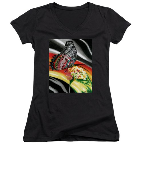 Transforming Winds     Women's V-Neck T-Shirt (Junior Cut) by Peter Piatt
