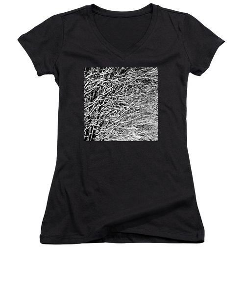 Women's V-Neck T-Shirt (Junior Cut) featuring the photograph Winter by Gert Lavsen