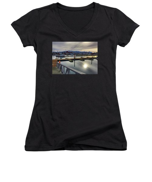 Winter Harbor Women's V-Neck (Athletic Fit)