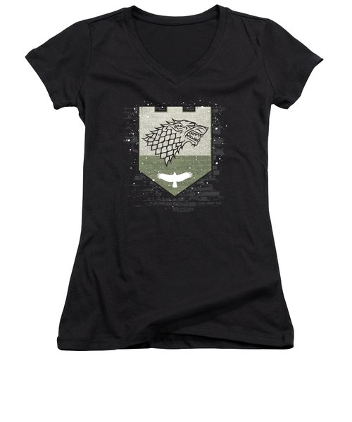 Winter Is Here Stark Banner Women's V-Neck T-Shirt