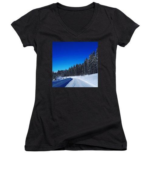 Winter Landscape  Women's V-Neck (Athletic Fit)