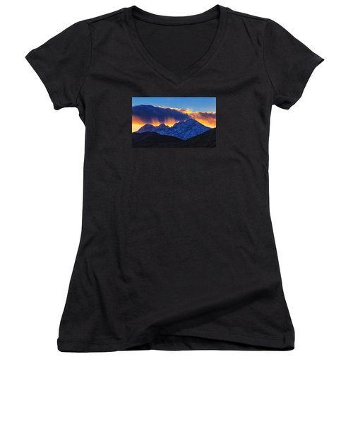 Sudden Splendor Women's V-Neck T-Shirt (Junior Cut) by Rick Furmanek