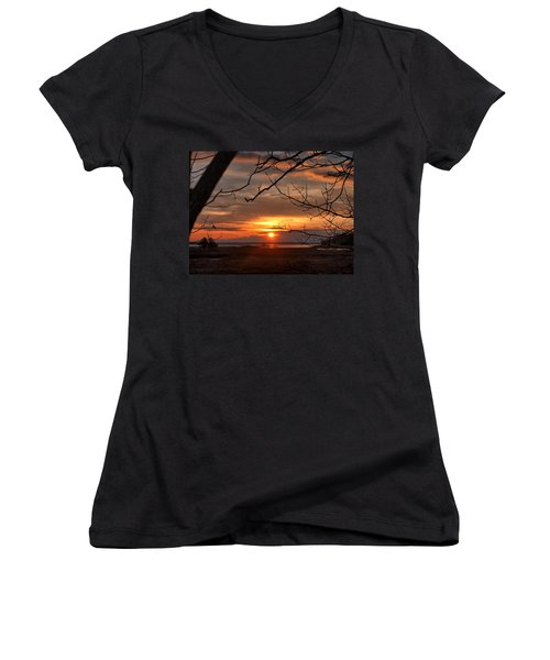 Winter Sunrise  Women's V-Neck
