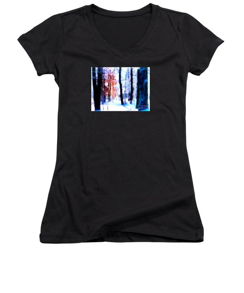 Winter Woods Women's V-Neck (Athletic Fit)