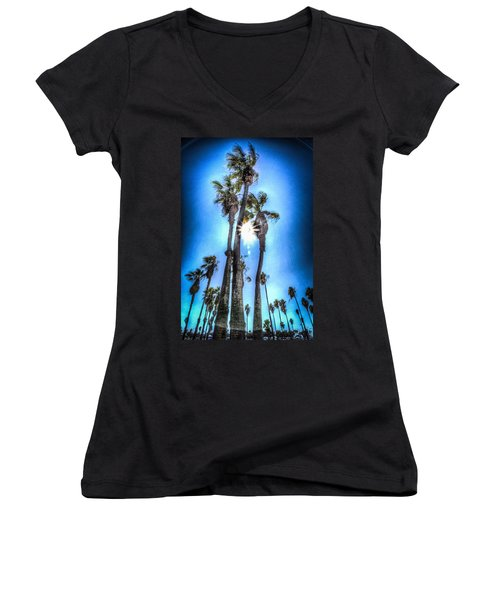 Wispy Palms Women's V-Neck