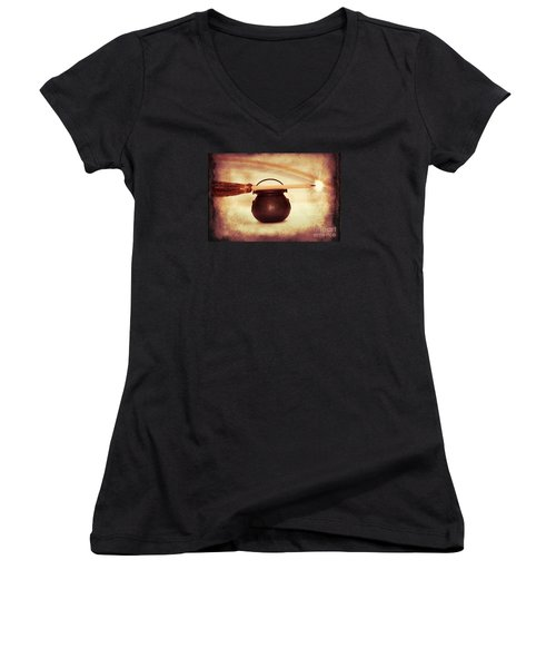 Witchy Women's V-Neck T-Shirt (Junior Cut) by Linda Matlow