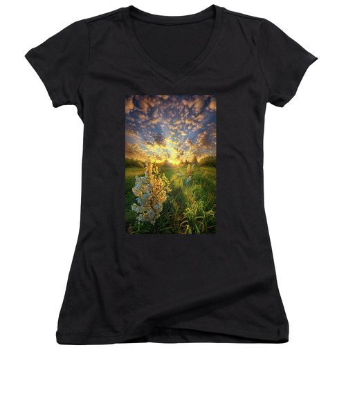 With An Angel By My Side Women's V-Neck