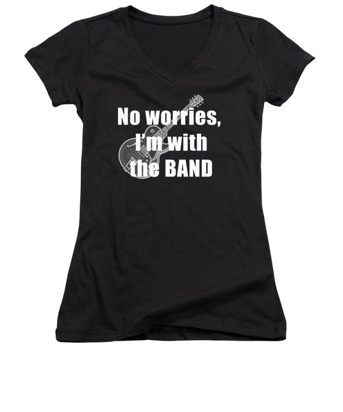 With The Band Tee Women's V-Neck T-Shirt (Junior Cut) by Edward Fielding