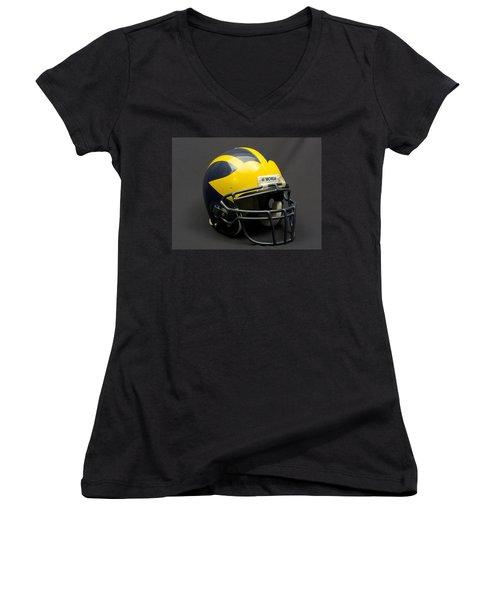Wolverine Helmet Of The 2000s Era Women's V-Neck