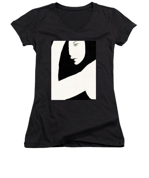 Woman In Shadows Women's V-Neck