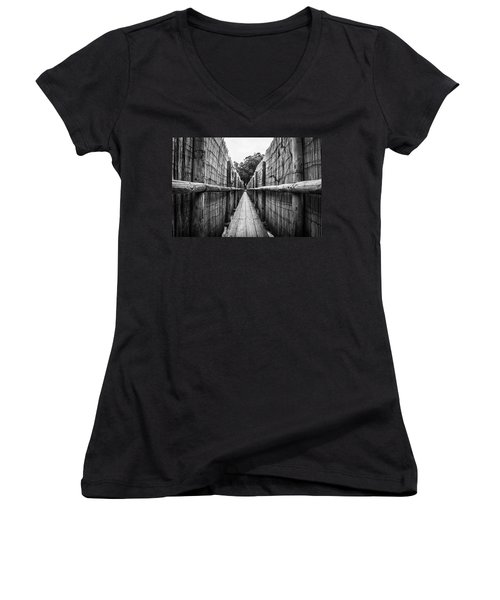Wooden Walkway. Women's V-Neck