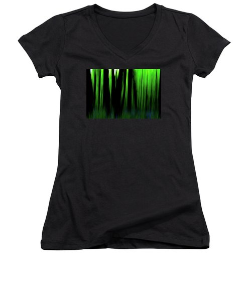 Woodland Abstract Iv Women's V-Neck T-Shirt
