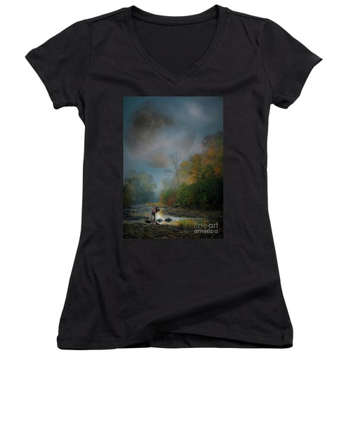Woodland Elk Women's V-Neck