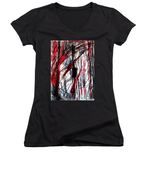 Words Women's V-Neck (Athletic Fit)