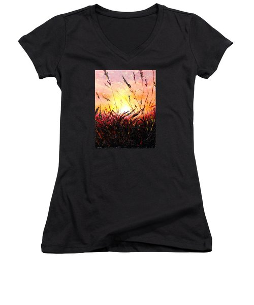 Words Like Fire Women's V-Neck (Athletic Fit)