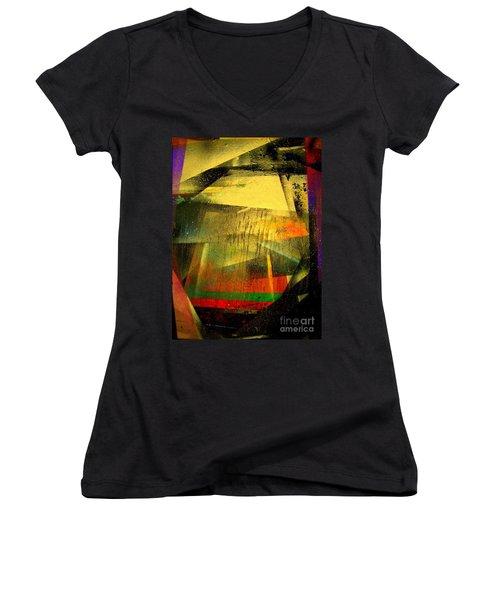 Work Bench Women's V-Neck T-Shirt (Junior Cut) by Greg Moores