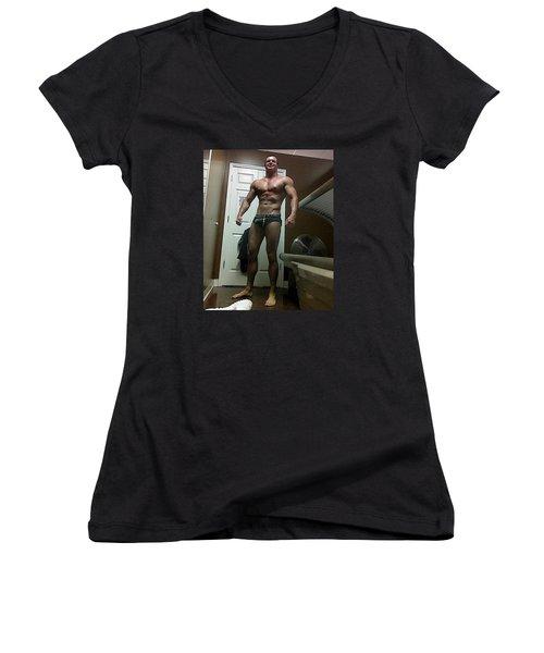 Work In Progress Women's V-Neck T-Shirt (Junior Cut) by Jake Hartz
