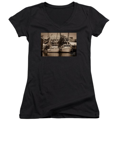 Working From The Creek Women's V-Neck