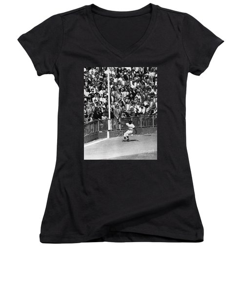 World Series, 1955 Women's V-Neck (Athletic Fit)