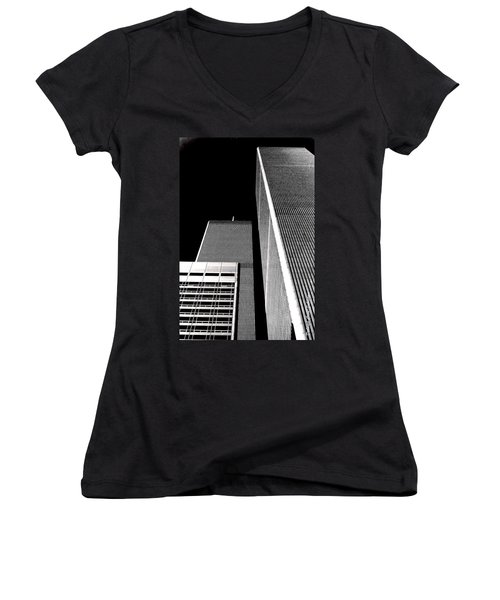 World Trade Center Pillars Women's V-Neck T-Shirt