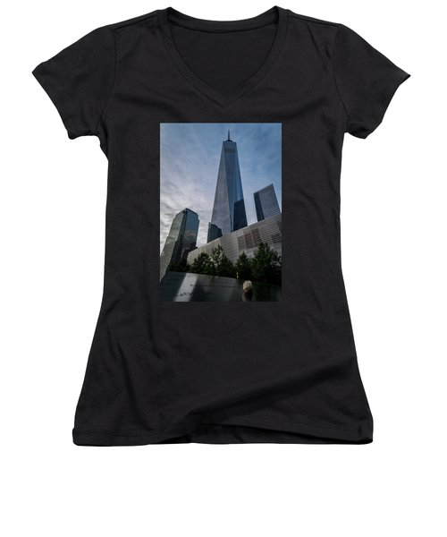 World Trade Center Remember Women's V-Neck (Athletic Fit)