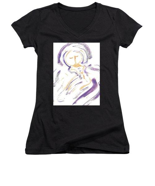 Wrapt In Prayer Women's V-Neck T-Shirt