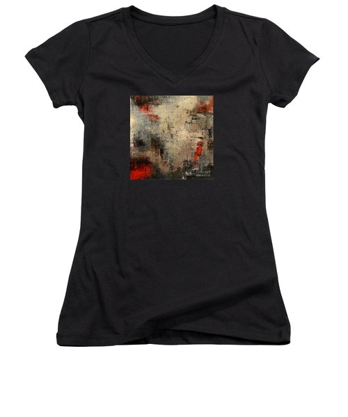 Wreckage Women's V-Neck T-Shirt (Junior Cut) by Tatiana Iliina