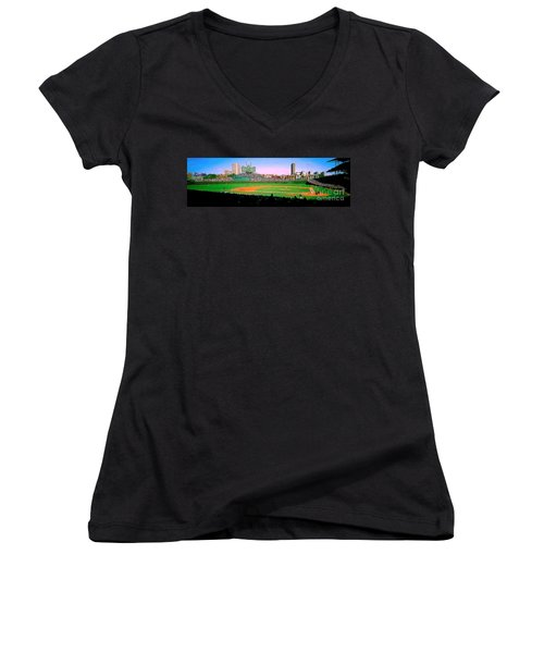 Wrigley Field  Women's V-Neck (Athletic Fit)