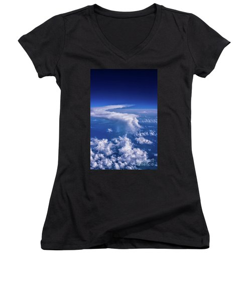 Writing In The Sky Women's V-Neck (Athletic Fit)
