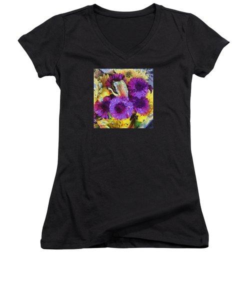 Xtreme Floral Twelve Cozy And Snug Women's V-Neck T-Shirt