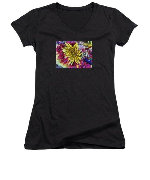 Xtreme Floral Thirteen Reaching Out Women's V-Neck T-Shirt
