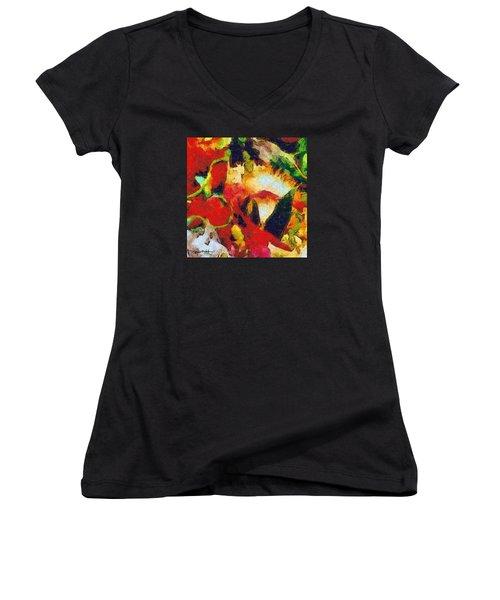 Xtreme Floral Four Women's V-Neck T-Shirt
