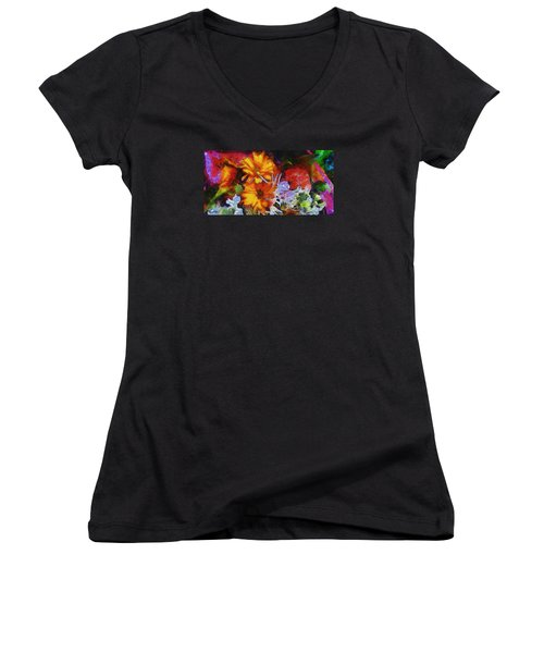 Xtreme Floral Two Women's V-Neck T-Shirt