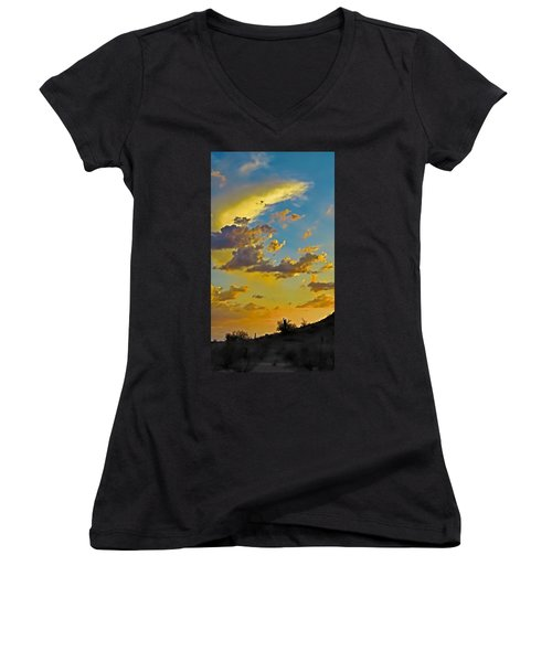 Y Cactus Sunset 10 Women's V-Neck