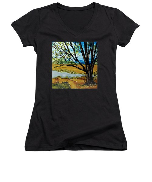 Ye Olde Oak Women's V-Neck T-Shirt