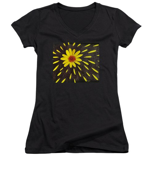 Yellow Daisy Women's V-Neck